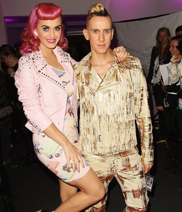 Katy Perry and Jeremy Scott Getty Images