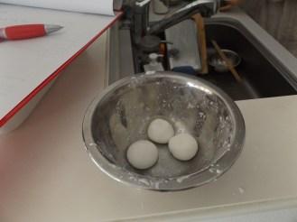 The mochi balls i made.