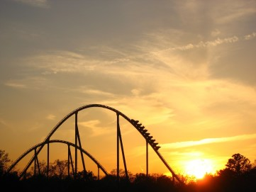 Stock Market is Like a roller coaster