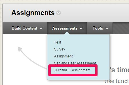 Bb Assessments dropdown