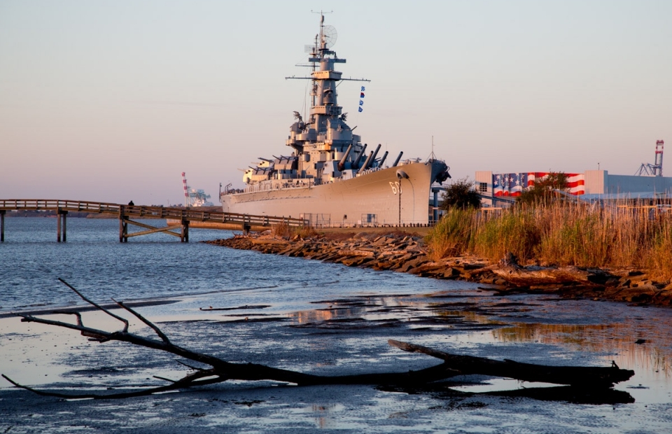 USS Alabama Battleship in Mobile Bay