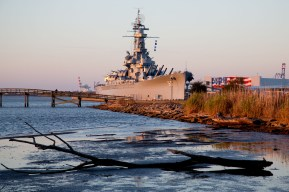 The USS Alabama battleship in Mobile, Alabama