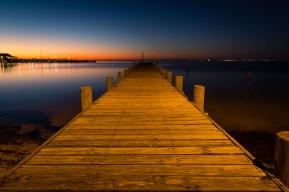 A Fairhope, Alabama, dock at sunset