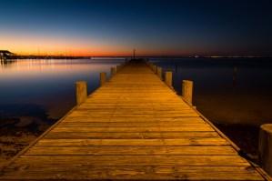 A Fairhope, Alabama, dock at sunset
