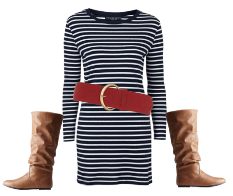 dress like brigitte bardot stripes