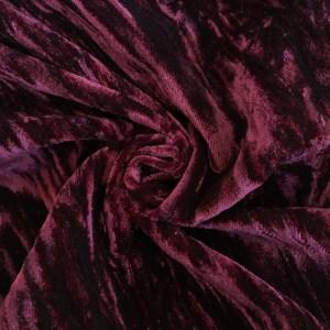 Crushed Velvet Burgundy