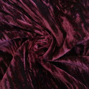 Crushed Velvet Burgundy