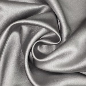 Pipe Pocket Silver or Gray Satin Sample Swatch For Turn of Events Rental Drapery Las Vegas