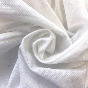 Pipe Pocket Silver Sparkle Sheer Chiffon Voile Sample Swatch For Turn of Events Rental Drapery Las Vegas