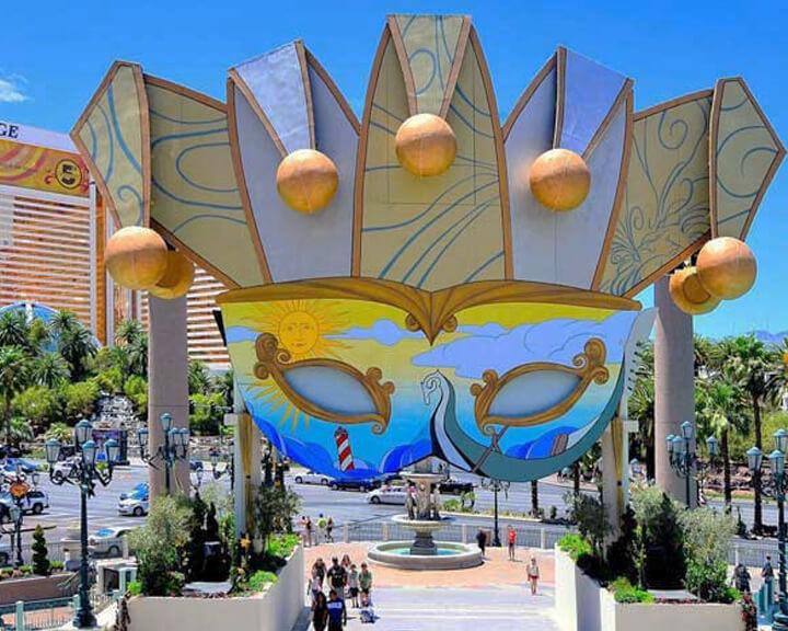 Las Vegas Strip Carnivale Venetian Mask Designed by Adam Affrunti