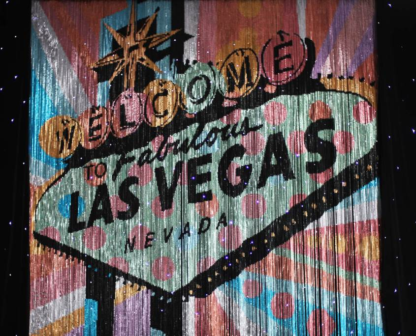Custom Chain Mural From Turn of Events Las Vegas Chain Sign
