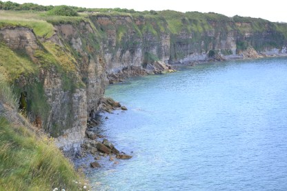 The cliffs below Pont du Hoc