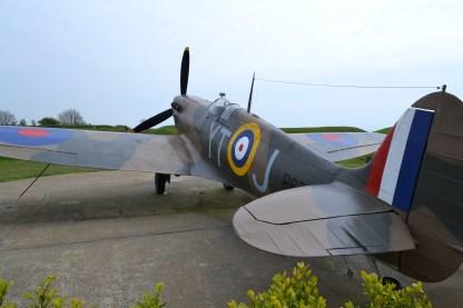 Replica plane at the Battle of Britain Memorial