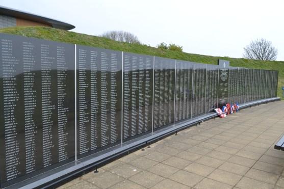 The Memorial Wall at the Battle of Britain Memorial