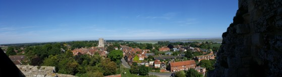 View from the roof of Orford Castle