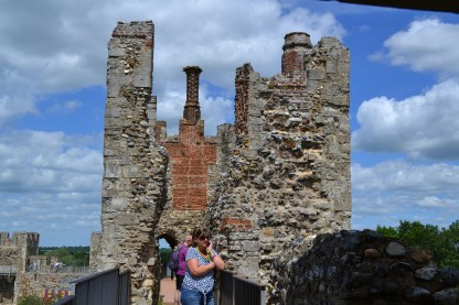 Atop the walls at Framlingham Castle