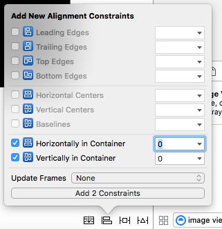 Image view alignment menu