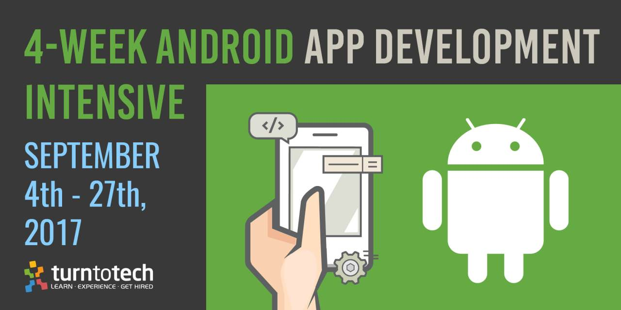 4-Week Android Development with Java (part-time, evening hours)