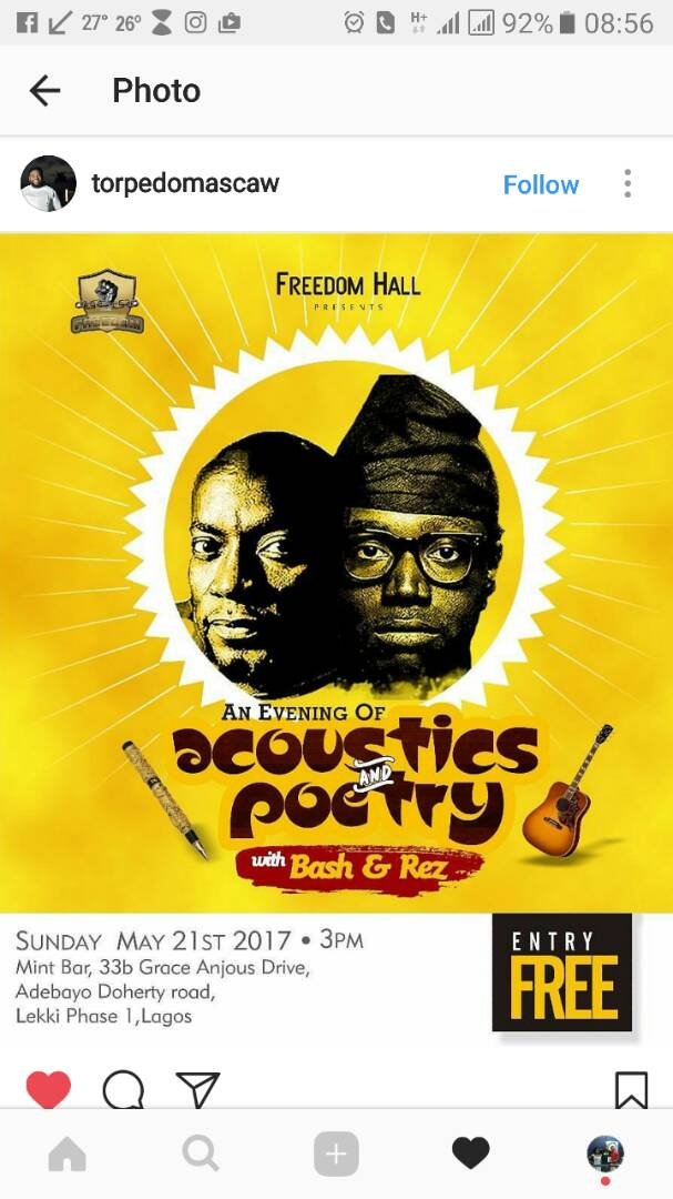 An Evening of Acoustics And Poetry