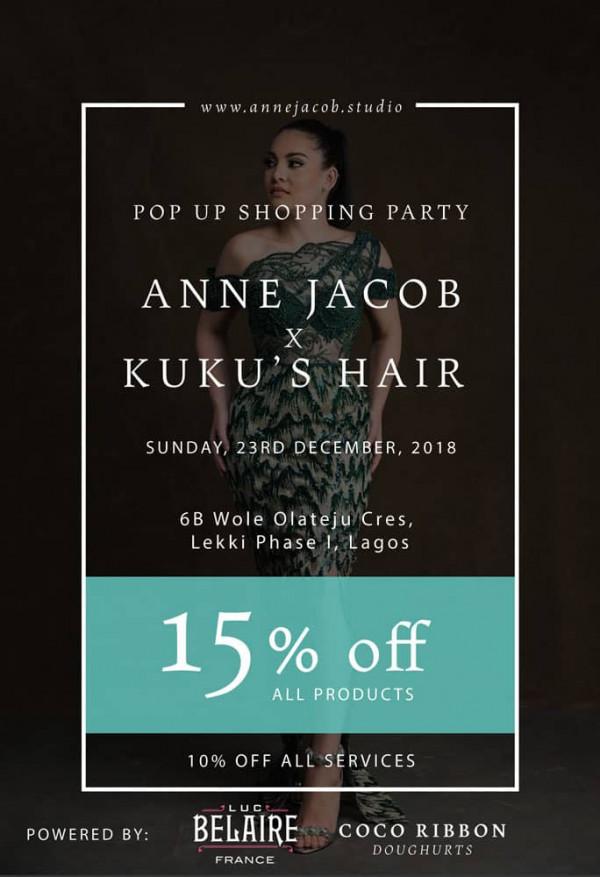 Anne Jacob x Kuku's Hair Pop-Up Shopping Party