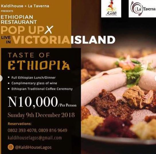 Ethiopian Restaurant Pop Up