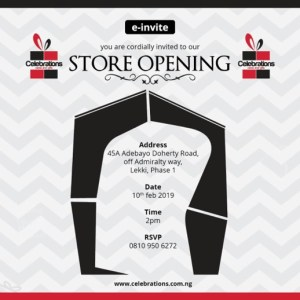 Celebrations Store Opening