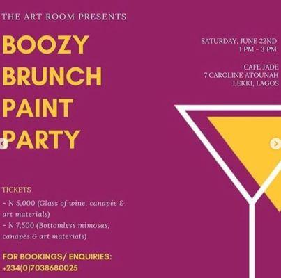 Boozy Brunch Paint Party