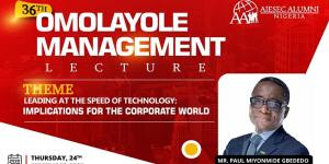 36th Omolayole Management Lecture