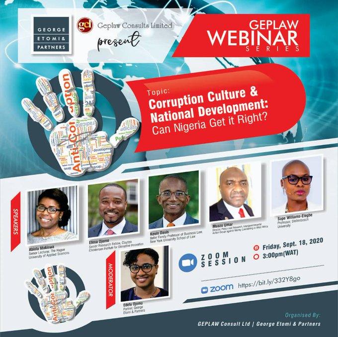 Corruption Culture & National Development