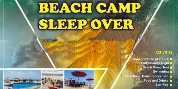 Beach Camp Sleep Over