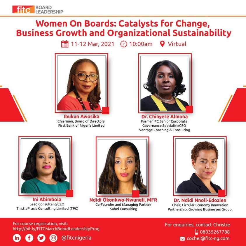 Women On Boards: Catalysts For Change, Business Growth & Organizational Sustainability