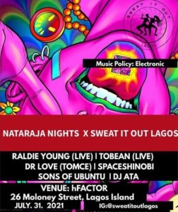 Nataraja Nights X Sweat It Out Lagos