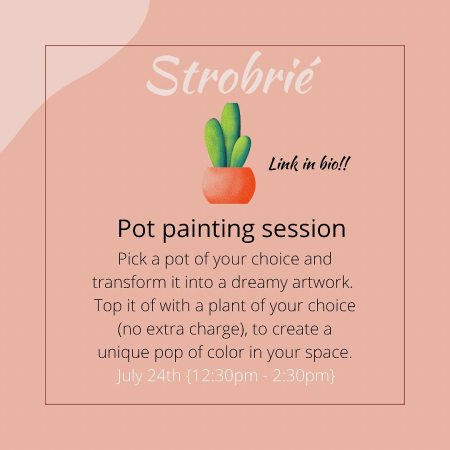 Pot Painting Session