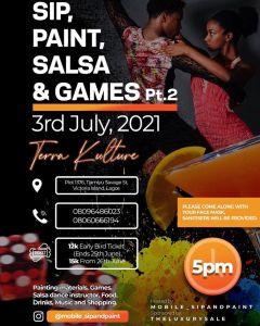 Sip, Paint, Salsa & Games