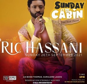 Sunday at The Cabin With Ric Hassani