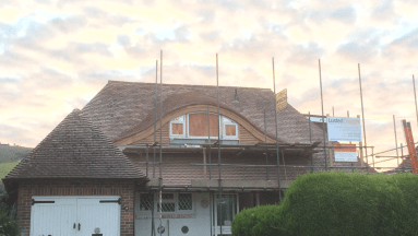 Extension with dormer eyebrow