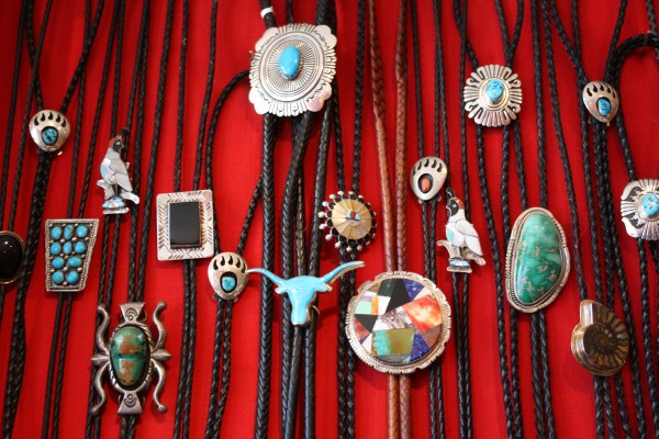 Bolo Ties Turquoise Girl With Heart