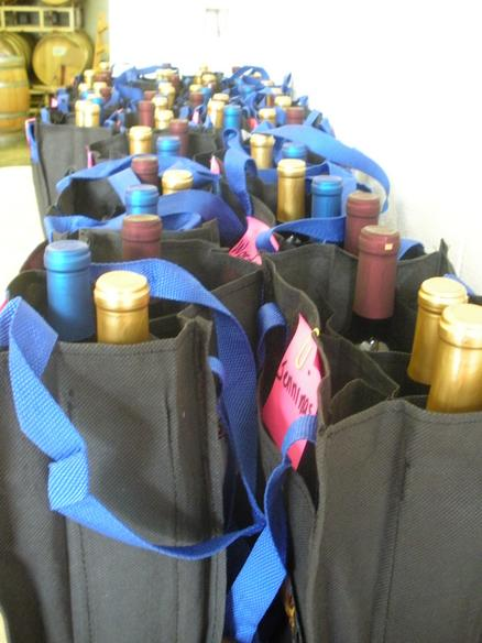 wine club bags filled with wine