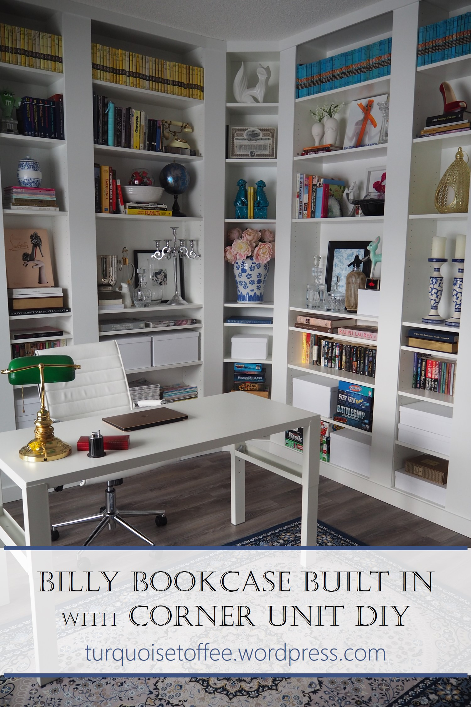 Billy Bookcase Built In With Corner Unit Diy Our Library