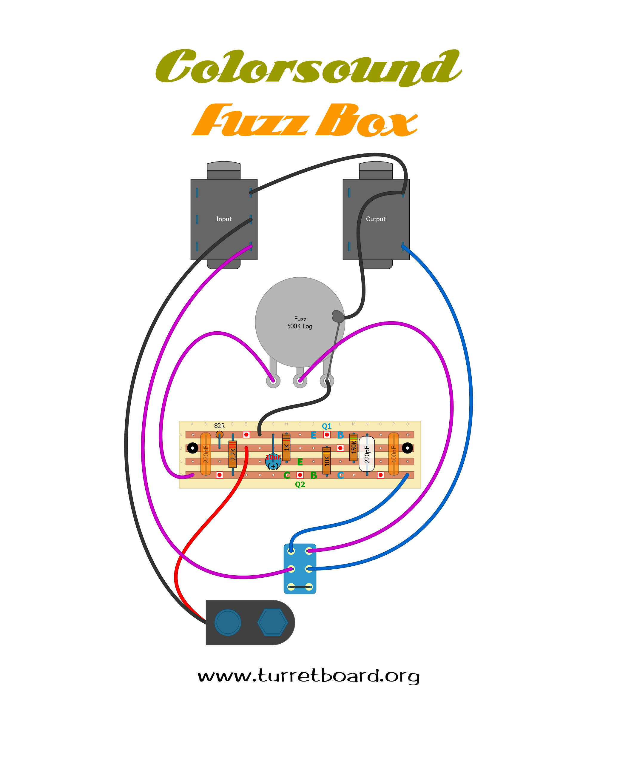 fuzz face wiring diagram kicker kisloc npn schematic get free image about