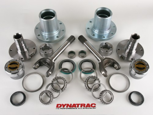 small resolution of the complete dynatrac kit for the ford 4x4 super duty comes complete with all bearings seals and replacement spindles hubs and stub axles