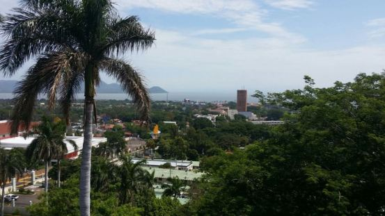 Managua - like a jungle town from above