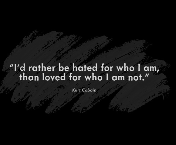 Motivational quotes by Kurt Cobain
