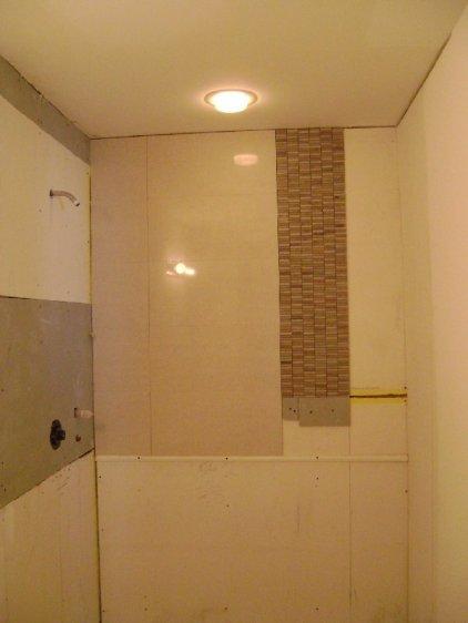Shower tile installation