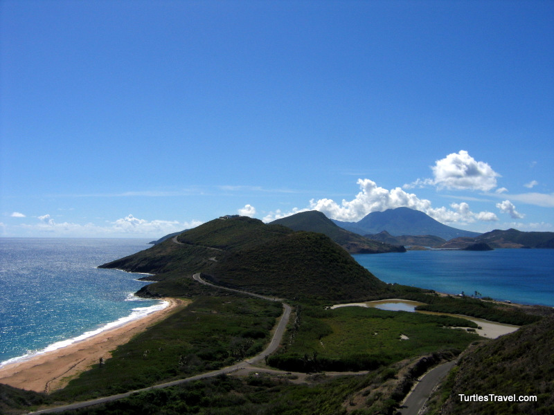 St. Kitts View Across The Narrows to Nevis