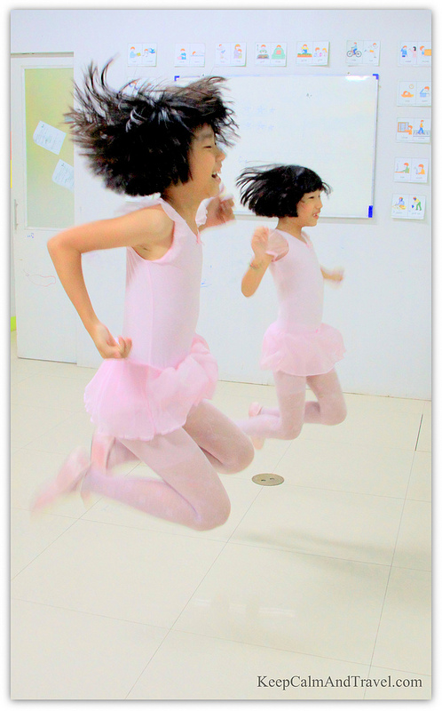 """My shot was taken during a break, where my little ballerinas Yung and Hong started """"free-styling""""and creating their own choreography, including synchronized jumps :) That day was so much fun!"""