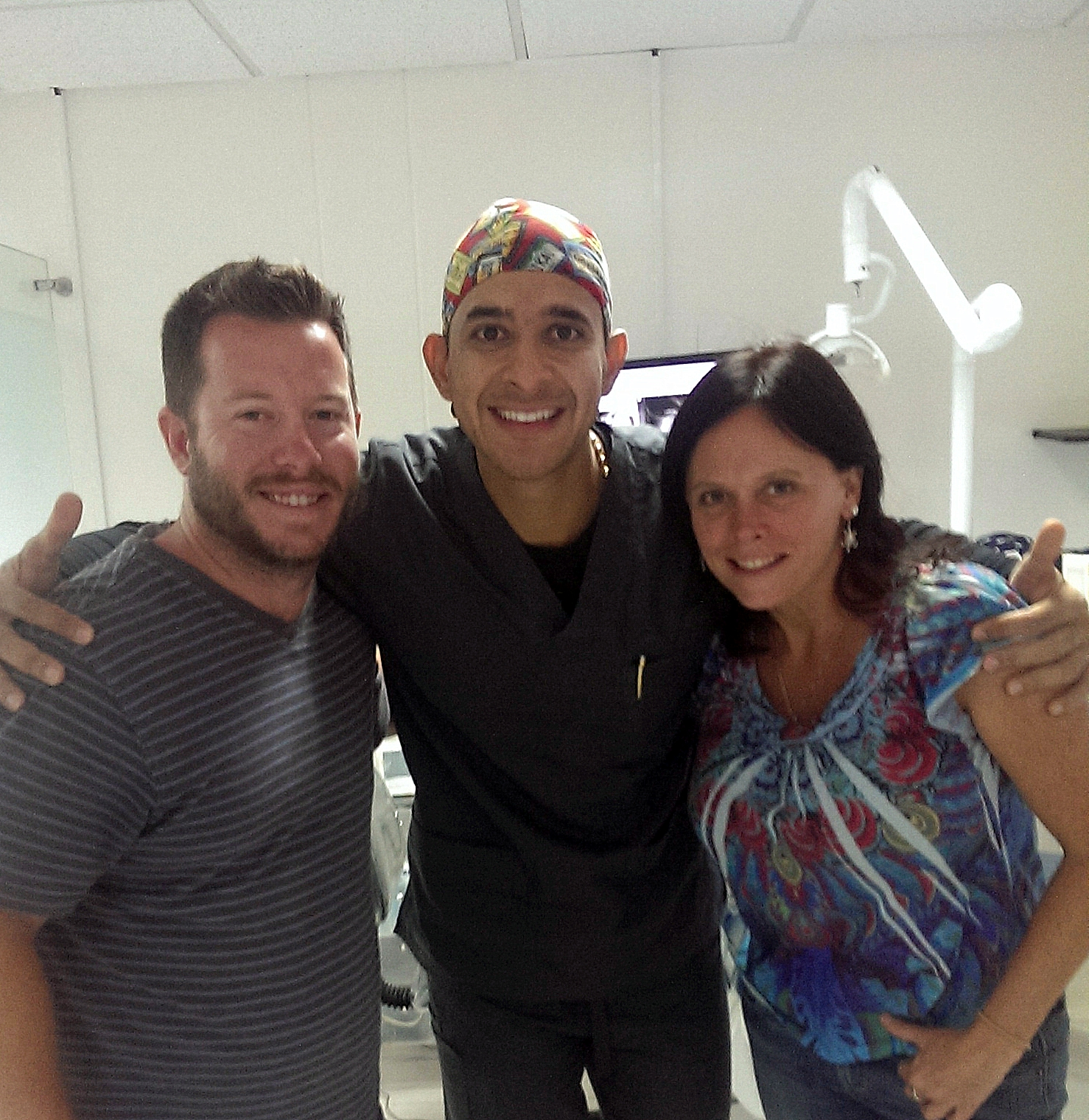 All smiles after Dr Javier Jimenez worked his magic.