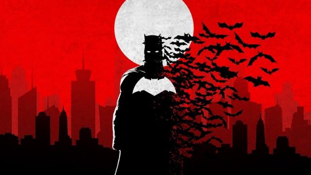 batman and bats wallpaper - Silhouette