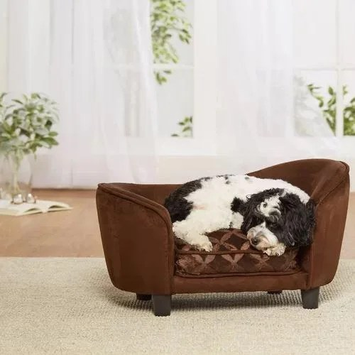 Snuggle brown luxury dog bed