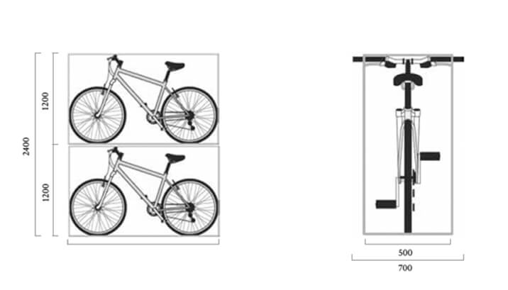 Cycle parking dimensions — Turvec Cycle Storage Solutions
